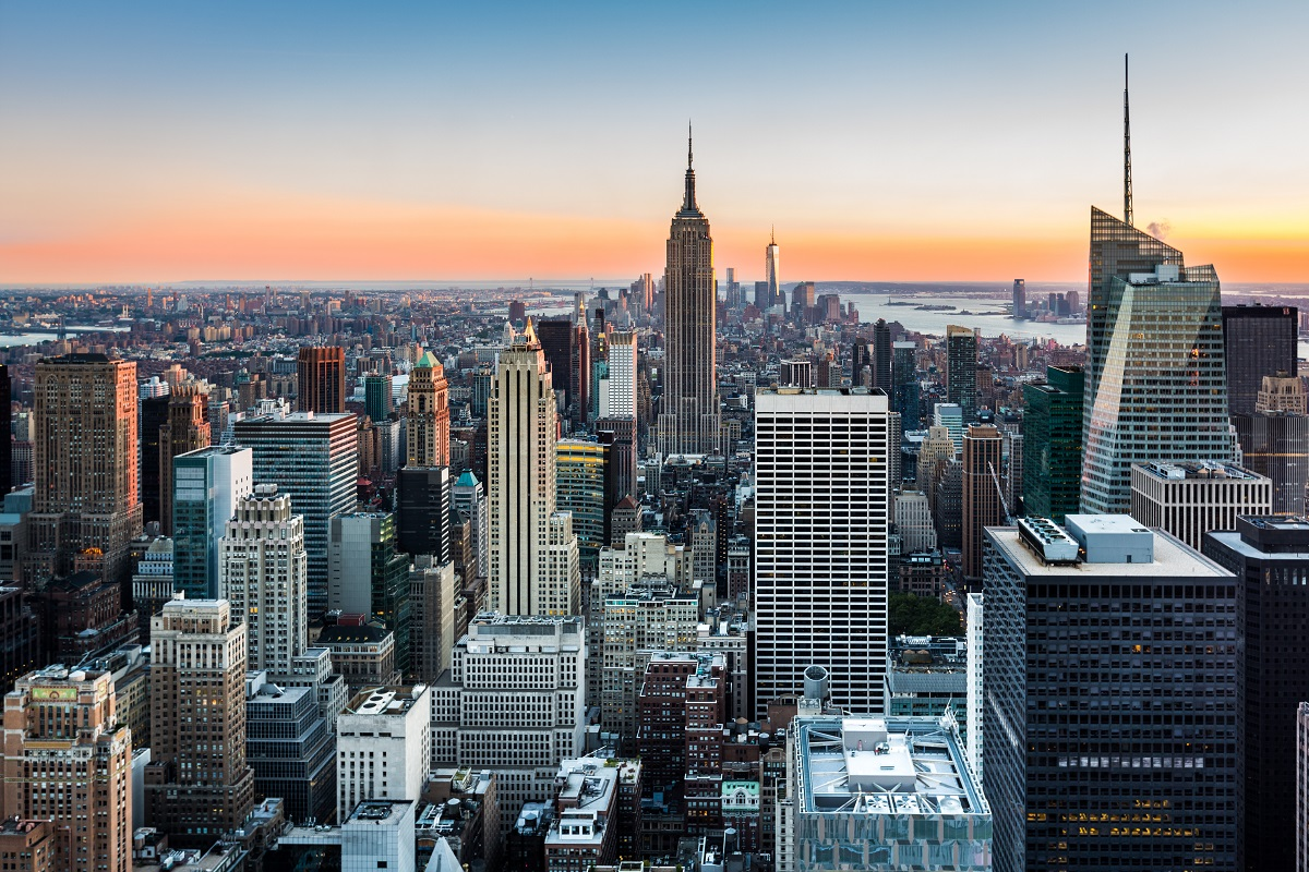 ``New York Skyline at sunset``
