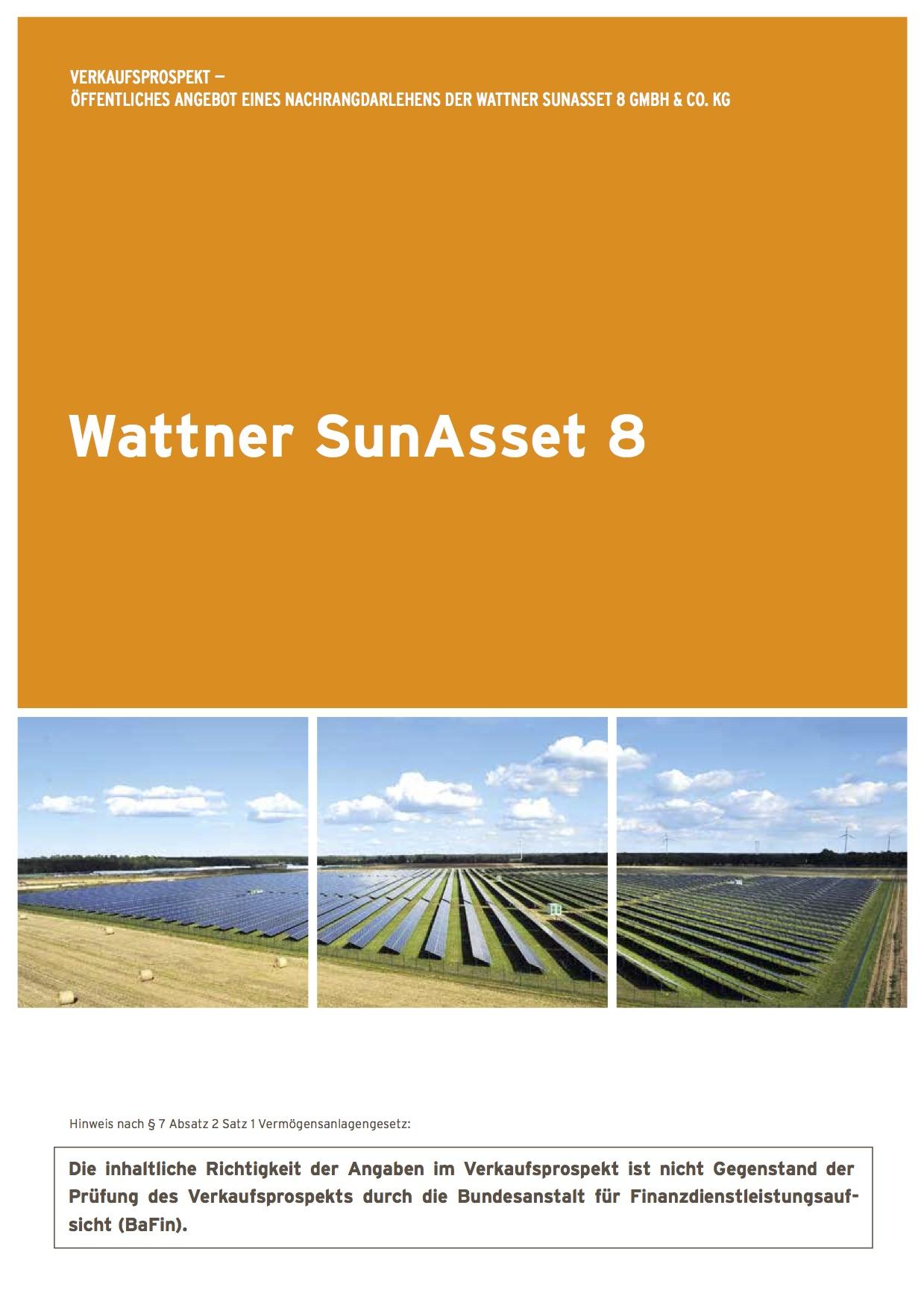 ``Wattner SunAsset 8 Verkaufsprospekt``