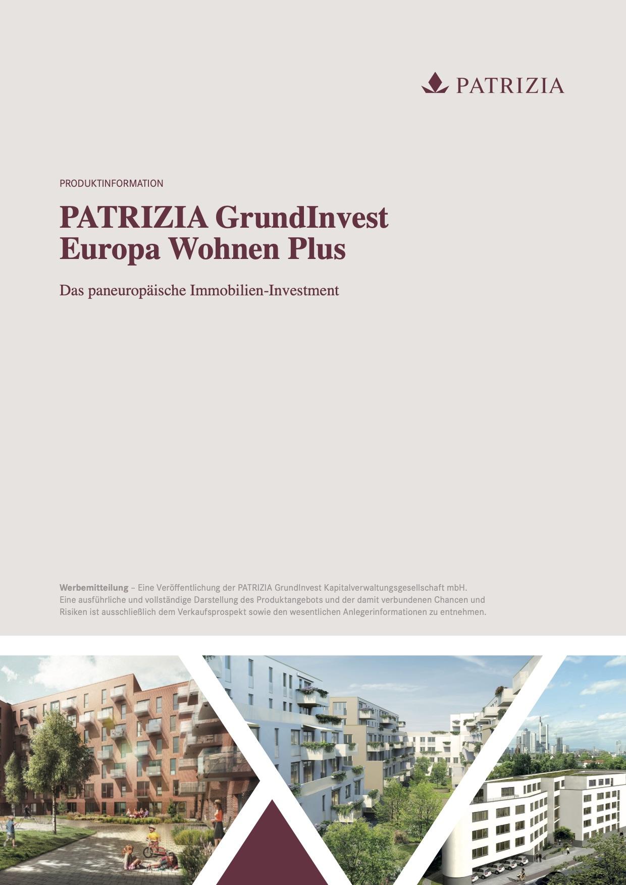 PATRIZIA GrundInvest Europa Wohnen Plus